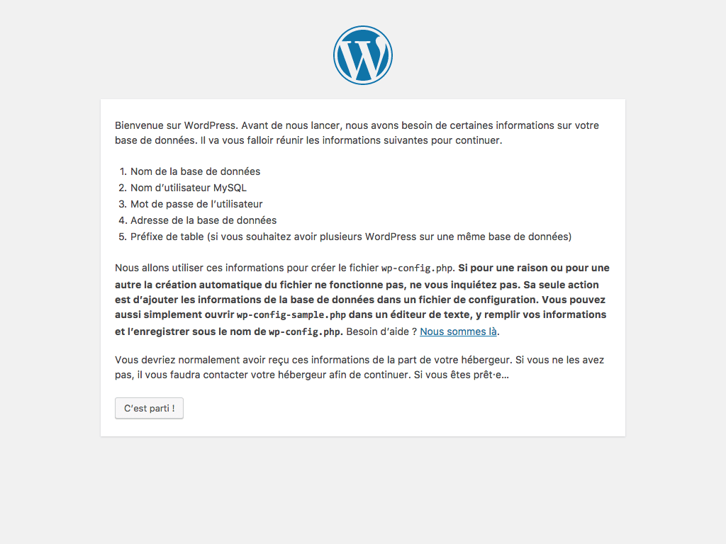 Installer WordPress facilement
